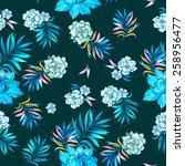 Seamless Floral Pattern. Exoti...