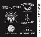 set of logo  emblem  badge ... | Shutterstock .eps vector #258968537