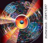 audio speaker on bright... | Shutterstock .eps vector #258971597