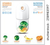 vitamin c chart diagram health... | Shutterstock .eps vector #258983597