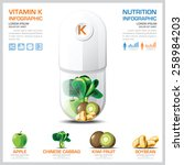 vitamin k chart diagram health... | Shutterstock .eps vector #258984203