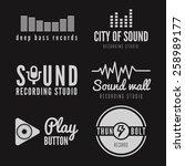 set of logo  badge label ... | Shutterstock .eps vector #258989177