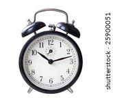 black retro alarm clock... | Shutterstock . vector #25900051