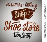 shop  shoe store  store  toy... | Shutterstock .eps vector #259003787