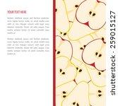 vector fruit banner with apples ... | Shutterstock .eps vector #259015127