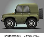 vector modern cartoon car ... | Shutterstock .eps vector #259016963