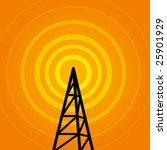 vector background with radio...   Shutterstock .eps vector #25901929