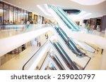 people in motion in escalators...   Shutterstock . vector #259020797