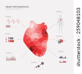 heart medical infographic set.... | Shutterstock .eps vector #259048103