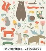 Forest Animals In Vector Set....