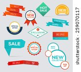 collection of sale discount... | Shutterstock .eps vector #259070117