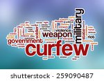 curfew word cloud concept with... | Shutterstock . vector #259090487