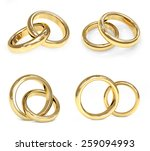 collection of gold wedding ring.... | Shutterstock . vector #259094993