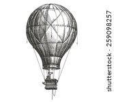 Hot Air Balloon Vector Logo...