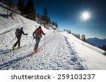 randonnee ski trails | Shutterstock . vector #259103237