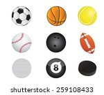 sports balls equipment icon set ... | Shutterstock .eps vector #259108433