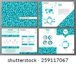 set of six pages of  flyer or... | Shutterstock .eps vector #259117067