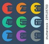 numbers set. design vector... | Shutterstock .eps vector #259135703
