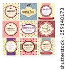 retro  vintage labels set | Shutterstock .eps vector #259140173