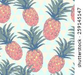low poly style seamless pattern ... | Shutterstock .eps vector #259145147
