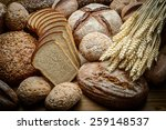 fresh bread  and wheat on the... | Shutterstock . vector #259148537