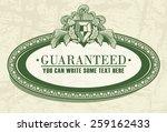 floral frame in dollar style...   Shutterstock .eps vector #259162433