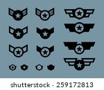 14 winged military badges and... | Shutterstock .eps vector #259172813
