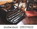 vintage photography still life... | Shutterstock . vector #259174223