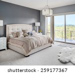 furnished master bedroom in new ... | Shutterstock . vector #259177367