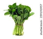 Green Kale On A White...