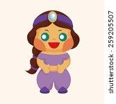 fairytale aladdin story theme... | Shutterstock .eps vector #259205507