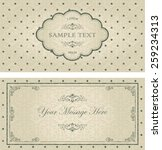 set of invitation cards on... | Shutterstock .eps vector #259234313