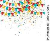 birthday background | Shutterstock .eps vector #259237253
