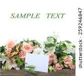 bouquet of beautiful flowers ... | Shutterstock . vector #259246847