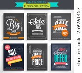 set of six different sale... | Shutterstock .eps vector #259261457