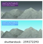 lowpoly postcards of mountains. | Shutterstock .eps vector #259272293