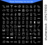 phone technology icon set | Shutterstock .eps vector #259275503