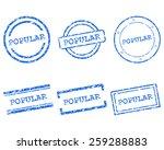 popular stamps | Shutterstock .eps vector #259288883