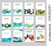 set of brochures with geometric ... | Shutterstock .eps vector #259292297