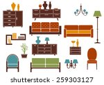 furniture and home interior... | Shutterstock .eps vector #259303127