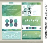 high-tech concept one page website design with hexagon elements | Shutterstock vector #259317347