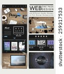 modern one page website design...
