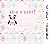 baby girl arrival card. baby... | Shutterstock .eps vector #259350197