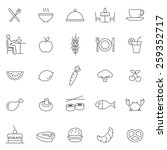 eating line icons set.vector | Shutterstock .eps vector #259352717