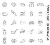 fast food  line icons set.vector | Shutterstock .eps vector #259353023