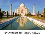 Taj Mahal On A Bright And Clea...