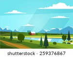 Natural Landscape. Vector...