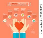 charity infographics with 6... | Shutterstock .eps vector #259380497