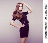 fashion portrait of elegant... | Shutterstock . vector #259389503