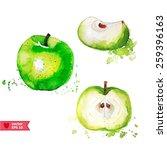 set of apples | Shutterstock .eps vector #259396163